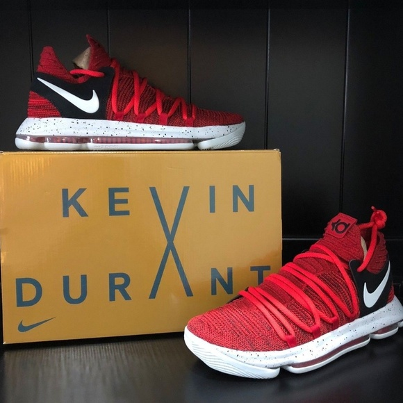 premium selection d57f7 7afa5 Nike Zoom KD 10 Basketball Shoes Red Kevin Durant.  M 5ac7adc05512fd8318c3b529